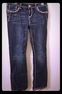 LA Idol size 11 bling flare jeans GUC